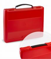 Briefcase with restendable handle red