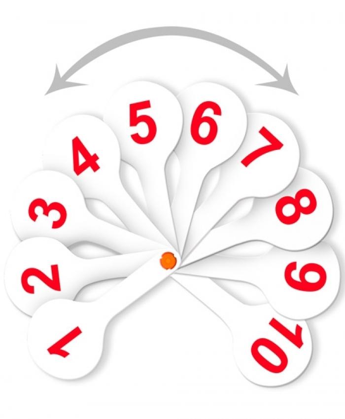Анонс-изображение товара веер-касса стамм (цифры от 1 до 20) прямой и обратный счет вк15